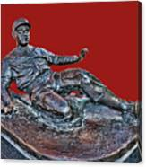 Enos Country Slaughter Statue - Busch Stadium Canvas Print
