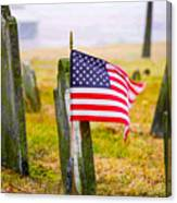 Enriched American Flag - Remember Canvas Print