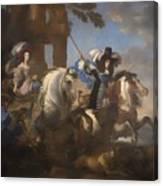 Enrichetta Adelaide Di Savoia E Ferdinando Di Baviera Canvas Print