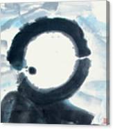 Quietude - Enso Moon Rising Above The Mountain Canvas Print