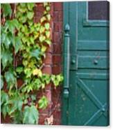 Enter Vine Door Canvas Print