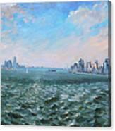 Entering In New York Harbor Canvas Print