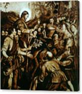 Entering Into Jerusalem Canvas Print