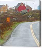Entering Peggys Cove 6068 Canvas Print