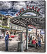 Entering Pike Place Canvas Print