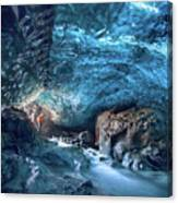 Entering The Ice Cave Canvas Print