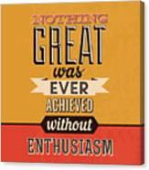 Enthusiasm Canvas Print