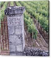 Entrance Of A Vineyard, Chateau La Canvas Print