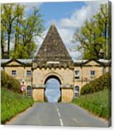 Entrance To Burghley House Canvas Print