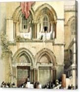 Entrance To Church Of The Holy Sepulchre Card Canvas Print