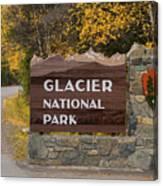 Entrance To Glacier Canvas Print