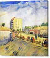 Entrance To Paris With A Horsecar Canvas Print
