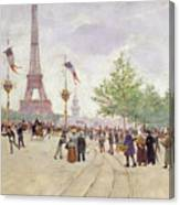 Entrance To The Exposition Universelle Canvas Print