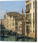 Entrance To The Grand Canal Looking West Canvas Print
