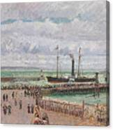 Entrance To The Port Of Le Havre And The West Breakwaters Canvas Print