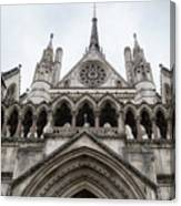 Entrance To The Royal Courts London Canvas Print