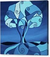 Enveloped In Blue Canvas Print