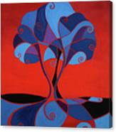 Enveloped In Red Canvas Print