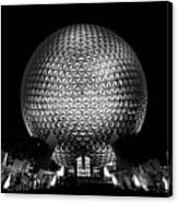Epcot In Black And White Canvas Print