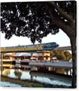 Epcot Tron Monorail Canvas Print