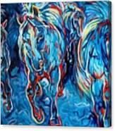 Equine Abstract Blue Four By M Baldwin Canvas Print