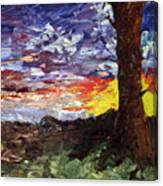 Erda Sunset Canvas Print