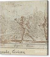 Ergasto And Corisca Canvas Print