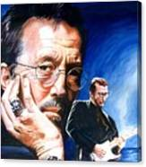 Eric Clapton Blues Lake Canvas Print