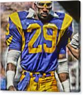 Eric Dickerson Los Angeles Rams Art Canvas Print