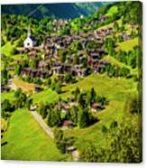 The Alpine Village Of Ernen In Switzerland  Canvas Print