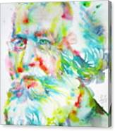 Ernst Haeckel - Watercolor Portrait Canvas Print