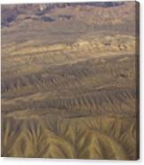 Eroded Hills Canvas Print