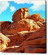 Eroded Red Sandstone Canvas Print