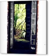 Eroding Door Leading To The Forgotten  Canvas Print
