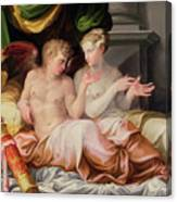 Eros And Psyche Canvas Print