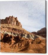 Erosion Shows The Layers Of Sediment Canvas Print