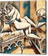 Erotic Abstract Four Canvas Print