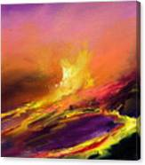 Eruption By Night Canvas Print