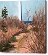Escuminac Lighthouse Canvas Print