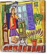 Esmorzant En Provence Canvas Print