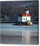 Esopus Lighthouse In December Canvas Print
