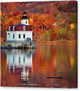 Esopus Lighthouse In Late Fall #2 Canvas Print