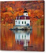 Esopus Lighthouse In Late Fall #3 Canvas Print