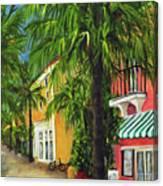 Espanola Way In Sobe Canvas Print