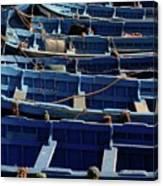 Essaouira Blue Boats Canvas Print