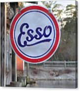 Esso Sign  Canvas Print