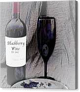 Est 2017 Blackberry Wine Canvas Print