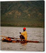 Ethiopia  Baiting A Longline On Lake Chamo Canvas Print