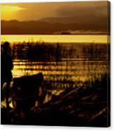 Ethiopia Catching Live-bait At Sundown On Lake Chamo Canvas Print