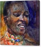 Ethnic Woman Portrait Canvas Print
